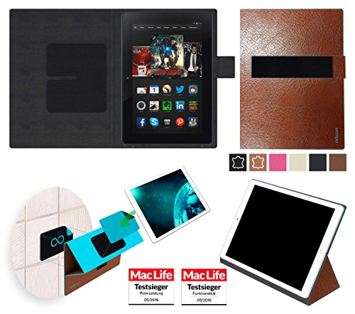 reboon Amazon Kindle Fire HDX 8.9 Hülle Tasche Cover Case Bumper | in Braun Leder | Testsieger