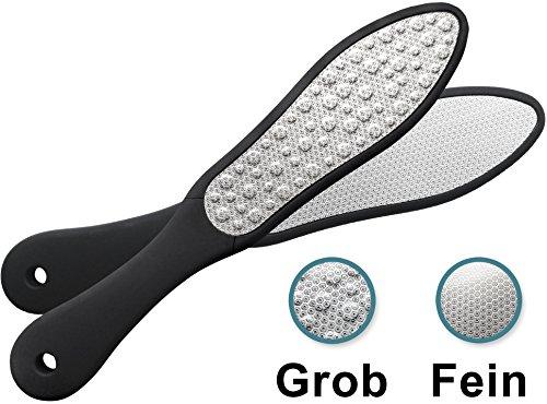 Laser Fußfeile zur Hornhaut Entfernung | Grobe & feine Raspel aus rostfreiem Metall | Naß & trocken anwendbar | Hornhautraspel - Hornhautfeile