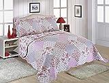Restmor Couvre-lit matelassé avec Motifs colorés