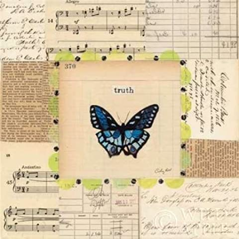 Feeling at home, Stampa artistica x cornice - quadro, fine art print, Veritˆ farfalla cm 61x61