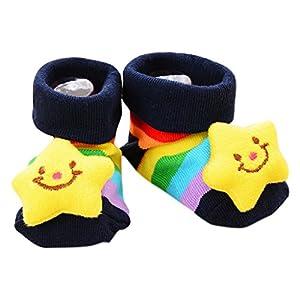 chenpaif Calcetines de bebé antideslizantes de algodón para recién nacido con dibujos animados de animales, botas unisex… 10