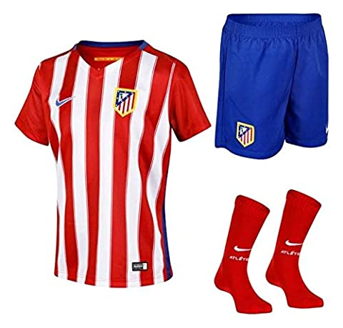 2015-2016 Atletico Madrid Home Nike Little Boys Mini Kit