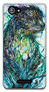The Racoon Lean printed designer hard back mobile phone case cover for Sony Xperia E3. (multicolor)