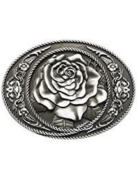 Schnalle123 - Hebilla de cinturón - para mujer plateado plata Talla única