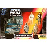 Star Wars Toys R Us Exclusive Power of the Force Classic Edition 4 Pack Darth Vader Luke Skywalker Han Solo Chewbacca