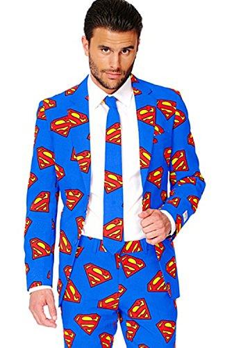 Männer Superman Opposuit DC Comics Offizielle Lizenz folgt alle Größen Gr. XX-Large, Bleu Avec Superman Logos