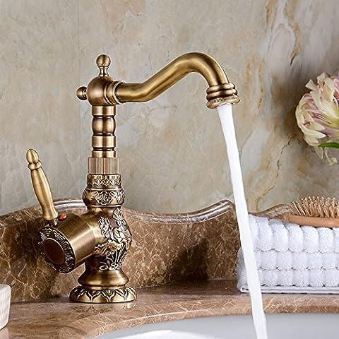 Ohcde Dheark Nouveau antique bronze sculpture en cuivre du bassin de bains évier robinet