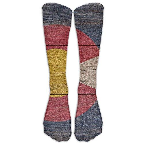 Bag shrots Rustic Colorado State Flag Knee High Graduated Compression Socks For Women And Men - Best Medical, Nursing, Travel & Flight Socks - Running & Fitness - Womens Low Rise Compression Short