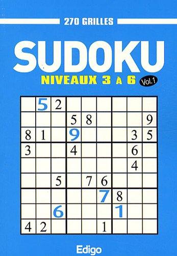 Sudoku 270 grilles : Niveaux 3 à 6 Volume 1 par Edigo