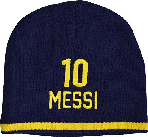 FC Barcelona Mütze Lionel Messi, offizielle Kollektion, Kindergröße für Jungen. - Fc Messi Barcelona Offizielle Mütze