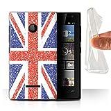 Stuff4 Phone Case for Microsoft Lumia 435 Glitter Pattern