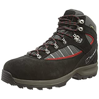 Berghaus Explorer Trek Plus Gtx Boot, Men's High Rise Hiking Boots, Black (Black/Nova Red V33), 12 UK (47 EU)