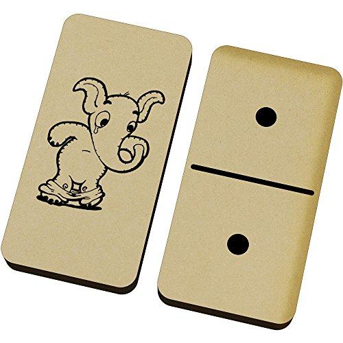 Azeeda 'Elefante Lindo' Domino Juego y Caja (DM00015832)