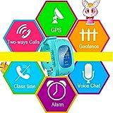 Uhren für Kinder,TURNMEON® intelligent uhr mit GPS WIFI Anti-lost Tracker Smart watch Handy mit SIM SOS Armband für Smartphone (Dark Blue) - 4