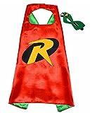 3-6 Jahre - Kostüm Set - Verkleidung - Karneval - Halloween - Robin von - Mann Fledermaus - Rot - Maske - Umhang - Kind - Batman