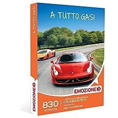 Idea Regalo - EMOZIONE3 - Cofanetto Regalo - A TUTTO GAS! - 830 attività sportive o di guida in pista