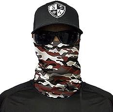 SA Fishing Company Face Shield Sturmhaube *viele verschiedene Designs* Multiunktionstuch Maske Fishing Totenkopf Schal Skull Bandana Gesichtsmaske Halstuch Ski Motorrad Paintball Halloween Maske