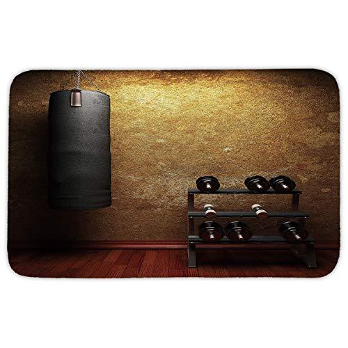 WYICPLO Rectangular Area rug Mat rug,Fitness,Gym Room with Equipments on