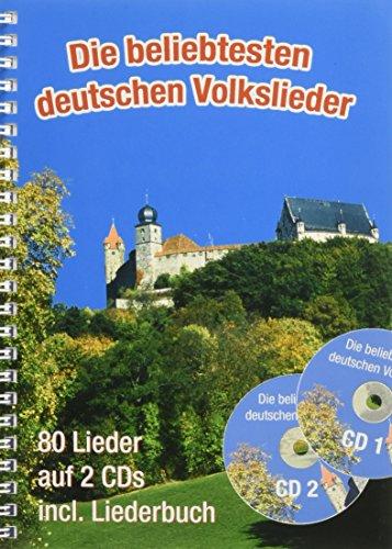 Die beliebtesten deutschen Volkslieder (A5 mit CDs) - Der Cd Mit Gesang-buch