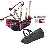 Kinder-Dudelsack, spielbar. Scottish National Tartan