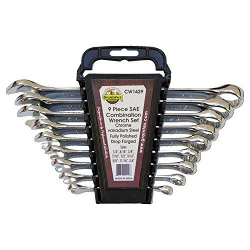 graintex cw1429SAE-Maulschlüssel Set - 9 Stück Maulschlüssel-set