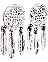 b79ae2cb74f9 fablcrew elegante plata pendientes brillante Atrapasueños uñas Stud  Pendientes para las mujeres joyería regalos