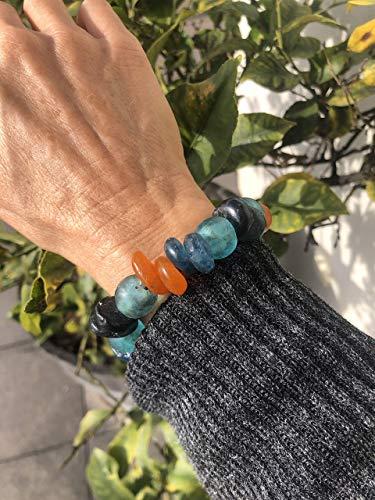 Ethnos Barcelona - Afrikanisches Armband aus Glasperlen. Messung: 14-16 cm