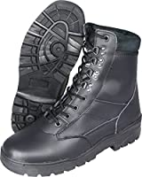 Mil-Com All Leather Patrol Boots Black