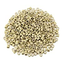 1000pcs 5mm Silicone Lined Micro Beads Rings Tube For Human Hair Extension Link Tip Tools No Damage to Hair