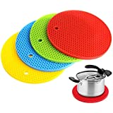[Sponsored]AVMART Hot Durable Silicone Pad Kitchen Tools Heat Insulation Round Colorful Bowl (Pack Of 2) Random Multi Colors