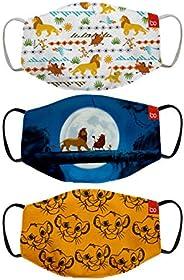 Bon Organik Lion King (OFFICIAL MERCHANDISE) 2 Ply Printed Cotton Cloth Face Mask Bundle For Kids (Set Of 3)