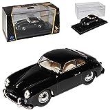 Porsche 356 Urmodell Coupe Schwarz 1948-1955 1/43 Yatming Lucky Die Cast Modell Auto