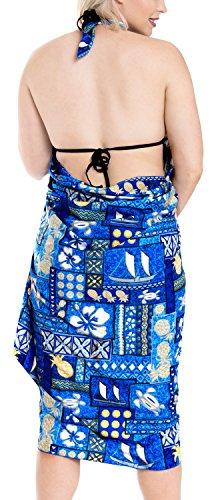 Bikini Vertuschung Bademode Badeanzug Badeanzug plus Größe Rayon Sarong Wickelkleid Türkis