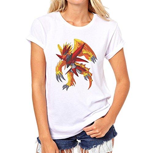 Digimon Biyomon Birdramon Garudamon Armor Damen T-Shirt Weiß