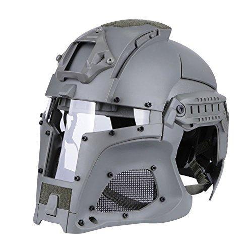 ective Helmet, Base Army Commet Motorrad-Helm Motorrad-Helm Paintball Full Cover Helm Mittelalterlicher Kriegerhorm,B ()