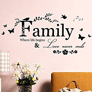 ZHANG Wallpaper Kitchen Art Wall Stickers Applique Fresco Letters English Decorative Background Stickers Feeling Full Love Family Sticker by ZHANG