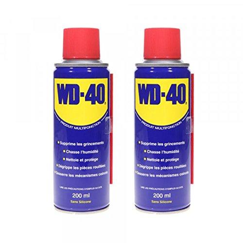 Dégrippant WD40 200 ml Nettoyant lubrifiant Protège corrosion par 2 – Pièce neuve