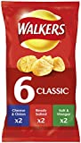 Walkers Classic Variety Crisps, 25g (6 Pack)