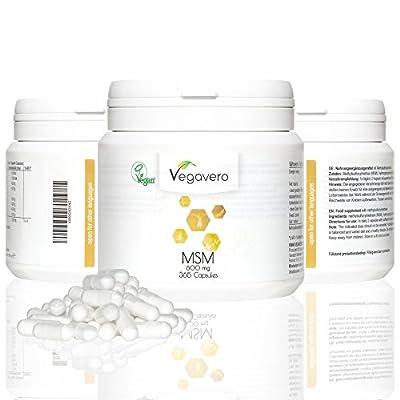 NEW: MSM (methylsulfonylmethane) | 365 Capsules, 1-year Supply | 99.9% Pure and Highly Dosed Sulfur, 1,000mg per Tablet | VEGAN by Vegavero