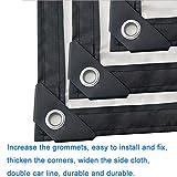 ZLL Telo cerato impermeabile Telo impermeabile di spessore Foglio di plastica impermeabile Fiore raccolto Pellicola serra Pellicola trasparente-trasparente Telo d'isolamento-125G / M²,2 × 6M