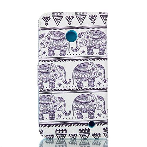 Housse Coque Portefeuille pour Apple iPhone 5C - Aohro Elegant Bookstyle PU Cuir Flip Magnétique Wallet Étui Cover Case avec Fonction Stand + Stylet + Dust Plug - motif Plume Eléphant