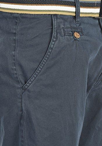 INDICODE Castro Herren Chino-Shorts kurze Hose mit Gürtel aus 100% Baumwolle Navy (400)