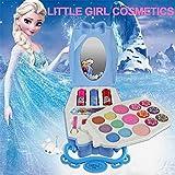 Waroomss Disney 22Pcs Princesse Jeu De Cosmétiques pour Filles avec Miroir | Lavable Et Non Toxique | Princess Real Kit De Maquillage avec Étui pour Les Filles Les Enfants