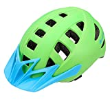 meteor® MA-5 FAHRRADHELM | Radhelm | Bike Helm | Inmoulding | Air Flow | Visier, Größe:L (58-61);Farbe:Green/Blue