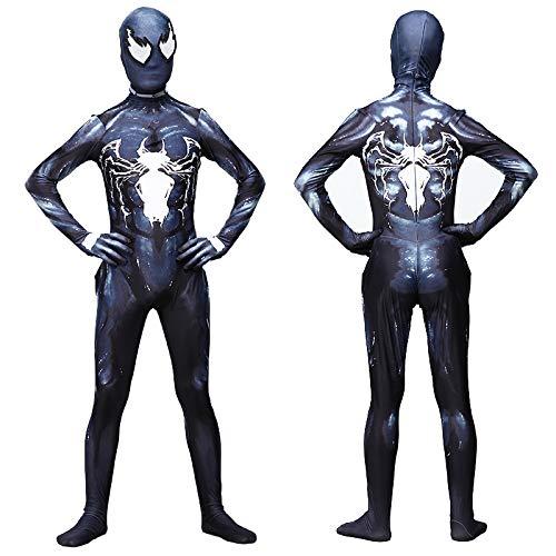 Spiderman Costume for Adult Kids Superhelden Kostüme Kinder Erwachsene,Halloween Karneval Kostüm,Lycra Spandex,3D-Druck,AdultXXL