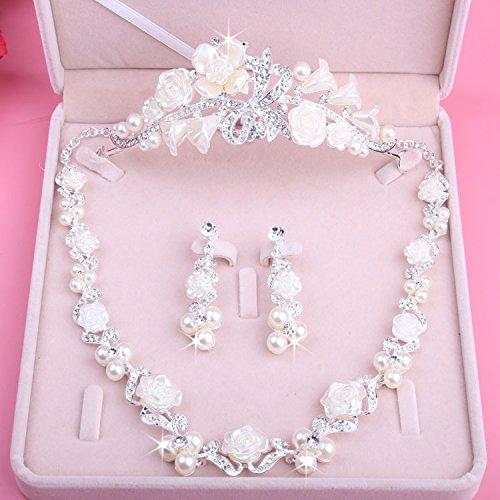 KPHY-Koreanische Braut Hochzeitskleid Hochzeit Haar Ornamente Anzug Schmuck Accessoires Drei Krone...