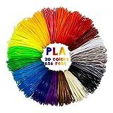 TOROTON 3D Penna Filamento Ricarica - 20 Colori 200 Metri (656 FT) 1.75mm PLA Penna di Stampa 3D Filamento, 10 Metri (32.8ft) Ogni Colore