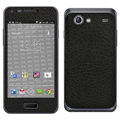 atFolix Skin kompatibel mit Samsung Galaxy S Advance GT-I9070, Designfolie Sticker (FX-Leather-Black), Feine Leder-Struktur (Samsung Galaxy Advance)