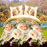 ZQ betterhome Bettbezug/Bettbezug Set 3D Activity Fashion Floral Print 4