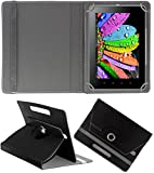DMP 360 Degree Rotating Leather Flip Case Book Cover With Stand For SAMSUNG Galaxy Tab 3 V T116 – Black